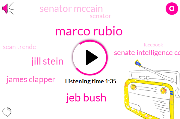 Marco Rubio,Jeb Bush,Jill Stein,James Clapper,Senate Intelligence Committee,Senator Mccain,Senator,Sean Trende,Facebook,Bernie Sanders,Senator Tom Cotton,Director,Michael Barone