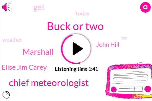 Buck Or Two,Chief Meteorologist,Marshall,Elise Jim Carey,John Hill
