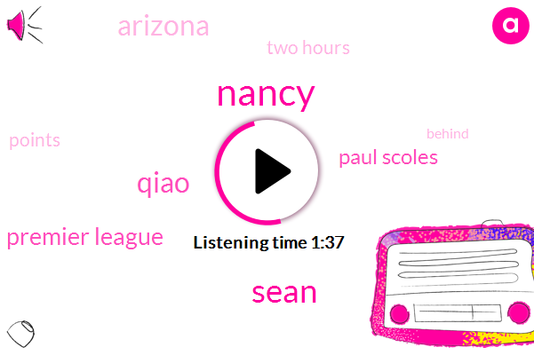 Nancy,Sean,Qiao,Premier League,Paul Scoles,Arizona,Two Hours