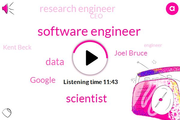 Software Engineer,Scientist,Google,Joel Bruce,Research Engineer,CEO,Kent Beck,Engineer,BEN,Alanon Library,Seattle,Disci,Beck,Helen Stoop,Mike,CTO,Eitan
