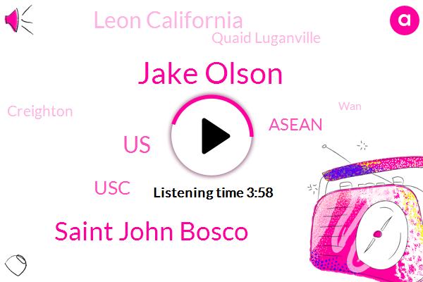 Football,Jake Olson,Saint John Bosco,United States,USC,Asean,Leon California,Quaid Luganville,Creighton,WAN,Tom Lukin,One Hand,Eighty Percent