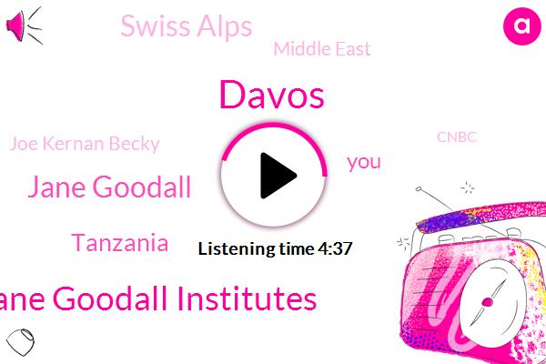 Davos,Jane Goodall Institutes,Jane Goodall,Tanzania,Swiss Alps,Middle East,Joe Kernan Becky,Cnbc,CEO,China,Ross Sorkin,NBC,United States,TD.