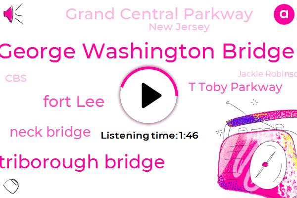 George Washington Bridge,Whitestone Bridge Triborough Bridge,Fort Lee,Neck Bridge,T Toby Parkway,Grand Central Parkway,New Jersey,CBS,Jackie Robinson Park,Lincoln Tunnel,Lower East River,Mark Skoko,SUE,Eight Million Dollar,Seven Years