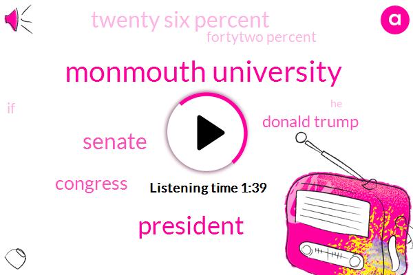 Monmouth University,President Trump,Senate,Congress,Donald Trump,FOX,Twenty Six Percent,Fortytwo Percent