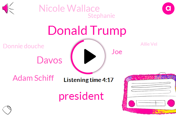 Donald Trump,President Trump,Davos,Adam Schiff,JOE,Nicole Wallace,Stephanie,Donnie Douche,Allie Vel,Msnbc,Chris Plante,Okamoto,America,Dallas,Adam Shiftless,Chelsea
