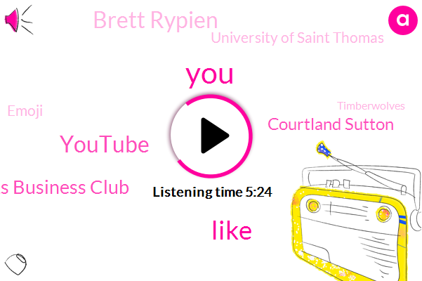 Youtube,Sports Business Club,Courtland Sutton,Brett Rypien,University Of Saint Thomas,Emoji,Timberwolves