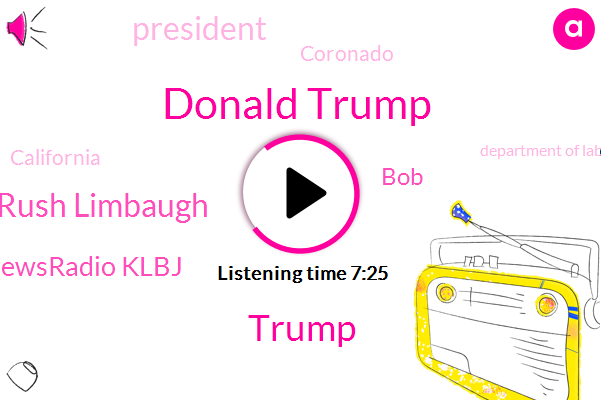 Donald Trump,Rush Limbaugh,Newsradio Klbj,BOB,President Trump,Coronado,California,Department Of Labor,United States,Bureau Of Labor,Jamal Kashogi,Boston,Istanbul,Saudi Consulate,Murder,Hollywood,Reporter