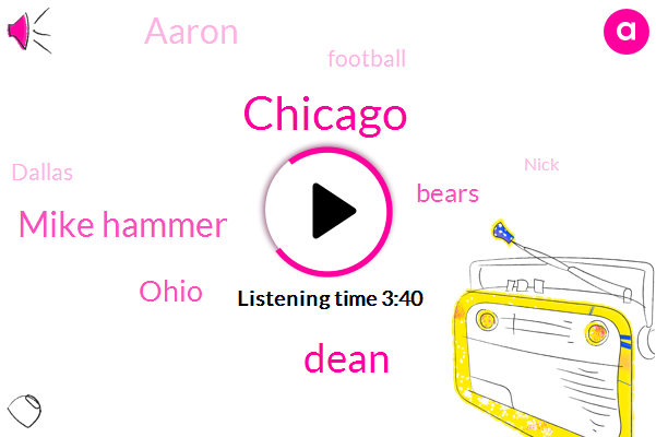 Chicago,Mike Hammer,WGN,Dean,Ohio,Bears,Aaron,Football,Dallas,Nick,Seventeen Degrees