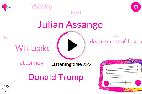 Julian Assange,Donald Trump,Wikileaks,Attorney,Department Of Justice,Wicky,Keith