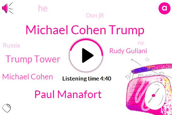 Michael Cohen Trump,Paul Manafort,Trump Tower,Michael Cohen,Rudy Guliani,Don Jr,Russia,FBI,Ukraine,Joya,Washington Post,Daniels,Giuliani,Auditor,Titus,Michael Collin,Michael Collins,Mueller