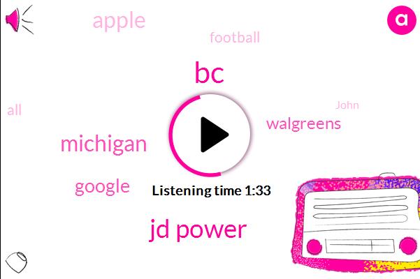 BC,Jd Power,Michigan,Google,Walgreens,Apple,Football