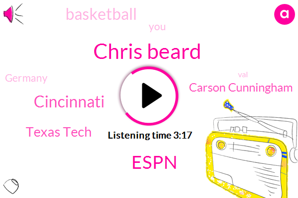 Chris Beard,Espn,Cincinnati,Texas Tech,Carson Cunningham,Basketball,Germany,VAL,Navy