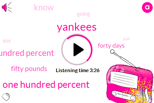 Yankees,One Hundred Percent,Hundred Percent,Fifty Pounds,Forty Days