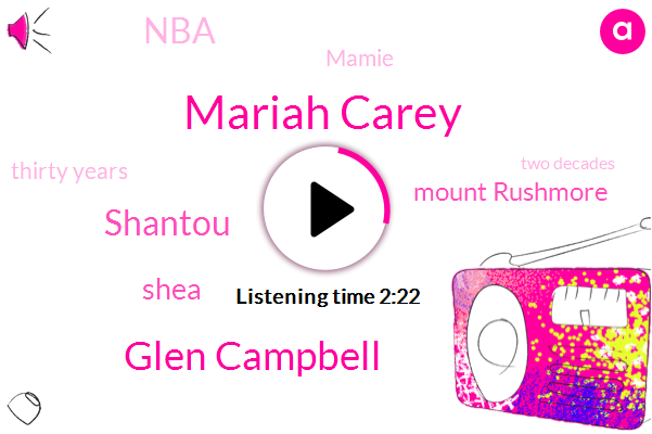 Mariah Carey,Glen Campbell,Shantou,Shea,Mount Rushmore,NBA,Mamie,Thirty Years,Two Decades,Milk
