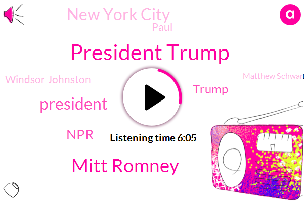 President Trump,Mitt Romney,NPR,Wnyc,Donald Trump,New York City,Paul,Windsor Johnston,Matthew Schwartz,Russia,Dale Willman,Fistfights Campground,Coney Island,Joshua Trees,Polly,Andrew Cuomo,Washington