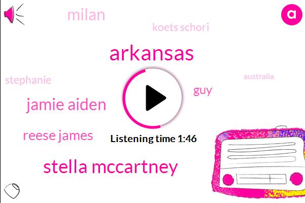 Arkansas,Stella Mccartney,Jamie Aiden,Reese James,GUY,Milan,Koets Schori,Stephanie,Australia,Twenty Seconds,Ten Seconds,Twomonth