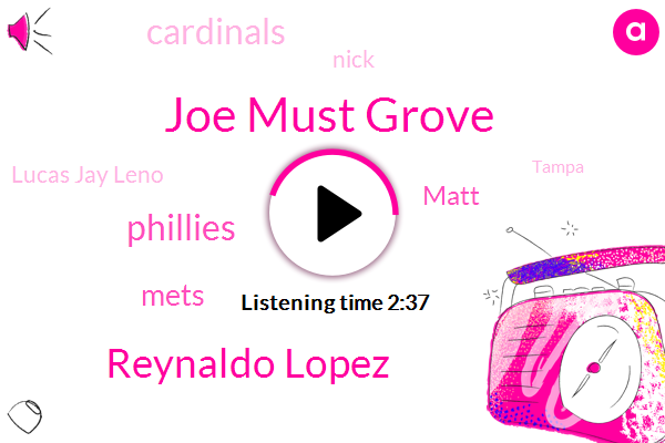 Joe Must Grove,Reynaldo Lopez,Phillies,Mets,Matt,Cardinals,Nick,Lucas Jay Leno,Tampa,Detroit,Muss Grove Golfman,Oakland,Baltimore,Miami,Philadelphia,Neria,Two Months