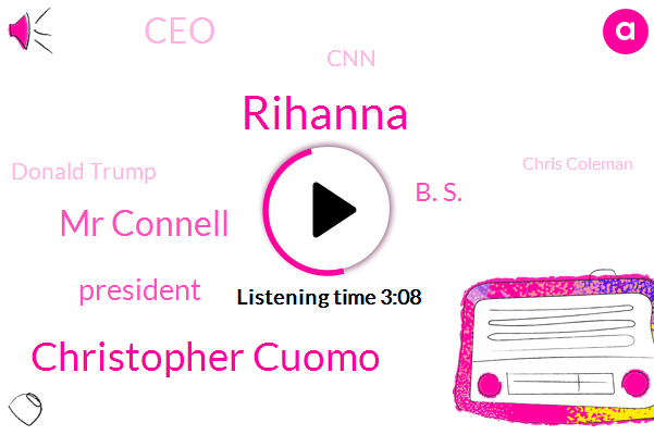 Rihanna,Christopher Cuomo,Mr Connell,President Trump,B. S.,CEO,CNN,Donald Trump,Chris Coleman,Jeff F.