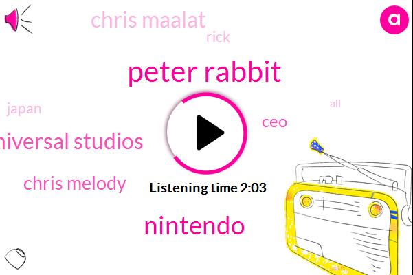 Peter Rabbit,Nintendo,Universal Studios,Chris Melody,CEO,Chris Maalat,Rick,Japan