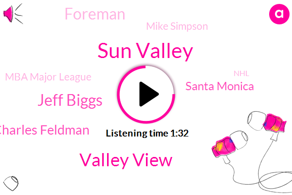 Sun Valley,Valley View,Jeff Biggs,Charles Feldman,Santa Monica,Foreman,Mike Simpson,Mba Major League,NHL,K Nicks,Malibu,Soccer,Mulholland,Chris Eating,Kane