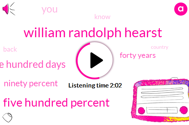 William Randolph Hearst,Five Hundred Percent,One Hundred Days,Ninety Percent,Forty Years