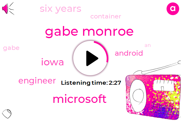 Gabe Monroe,Microsoft,Iowa,Engineer,Android,Six Years