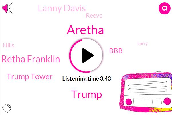 Aretha,Donald Trump,Retha Franklin,Trump Tower,BBB,Lanny Davis,Reeve,Hills,Larry,CNN,Beverly,Partner,Administrator,Irving Urban Cohen,Jessup,Forty Percent,Eighty Million Dollars,One Eight Million Dollar,Eighty Million Dollar