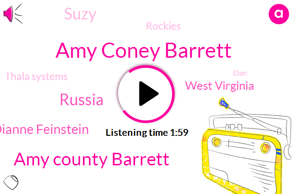 Amy Coney Barrett,Amy County Barrett,KOA,Russia,Dianne Feinstein,West Virginia,Suzy,Rockies,Thala Systems,DAN,Susie,Donald Trump,Cubs