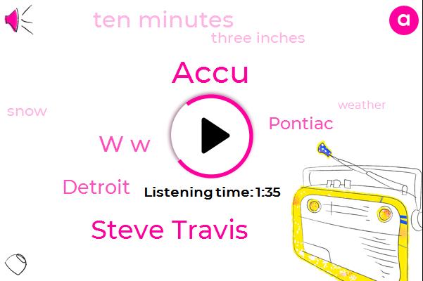 Steve Travis,Newsradio,Accu,W W,Detroit,Pontiac,Ten Minutes,Three Inches