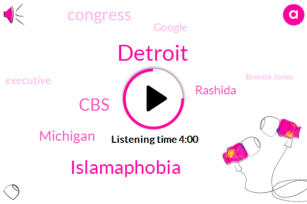 Islamaphobia,Detroit,CBS,Michigan,Rashida,Congress,Google,Executive,Brenda Jones,John Conyers,Democratic Party,New York City,African American School,President Trump,Lead,Assault,Reno