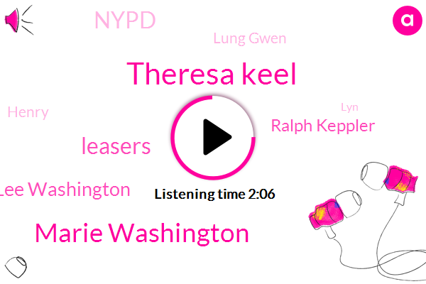 Theresa Keel,Marie Washington,Leasers,Lee Washington,Ralph Keppler,Nypd,Lung Gwen,Henry,LYN,Brooklyn,Murder,Forest Hills,John,Officer,Francesca,Anne,Long Beach
