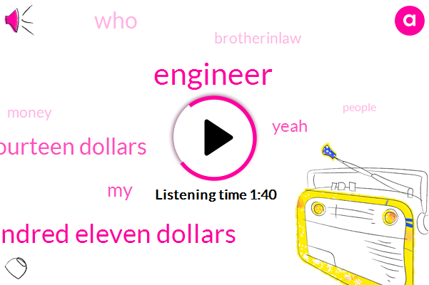 Engineer,Sixteen Ninety Five One Thousand One Hundred Eleven Dollars,One Thousand Fourteen Dollars