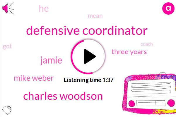 Defensive Coordinator,Charles Woodson,Jamie,Mike Weber,Three Years
