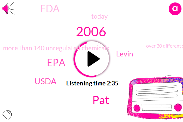 2006,PAT,EPA,Usda,Levin,FDA,Today,More Than 140 Unregulated Chemicals,Over 30 Different Superfoods,100%,Dozens Of Chemicals,O. J. C,Last 10 Years,42,ONE,79 Servings A Day,S. D,33,000 U.,Every Single Day,States
