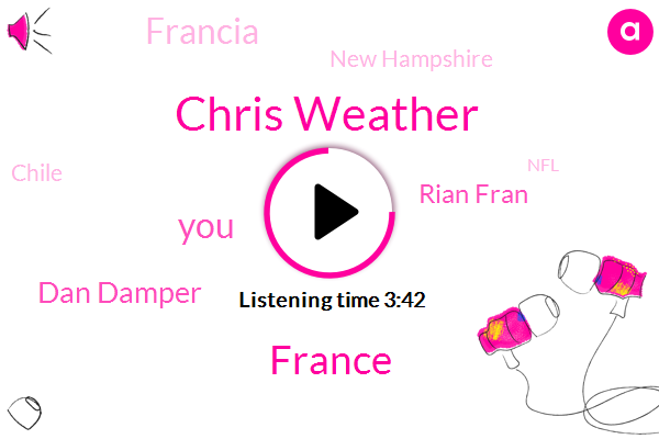 Chris Weather,France,Dan Damper,Rian Fran,Francia,New Hampshire,Chile,NFL,Norman,Eagles,JOE