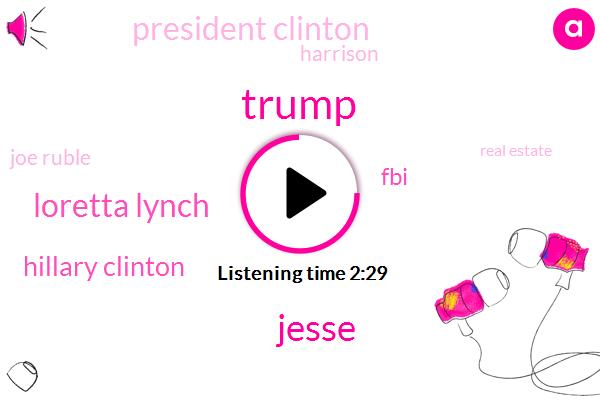 Donald Trump,Jesse,Loretta Lynch,Hillary Clinton,FBI,President Clinton,Harrison,Joe Ruble,Real Estate,Kellyanne Conway,Phoenix Harbor,Attorney
