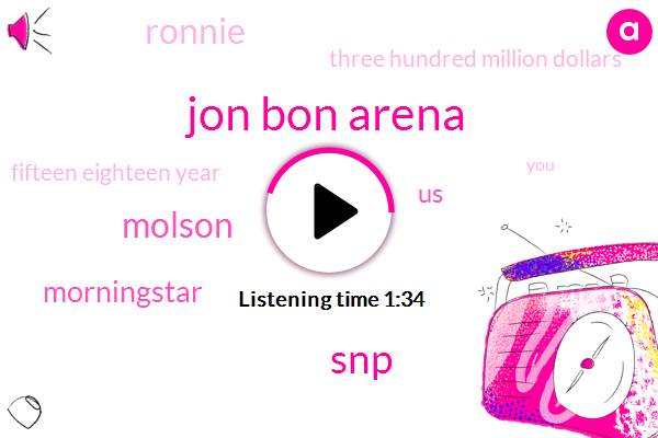 Jon Bon Arena,SNP,Molson,Morningstar,United States,Ronnie,Three Hundred Million Dollars,Fifteen Eighteen Year