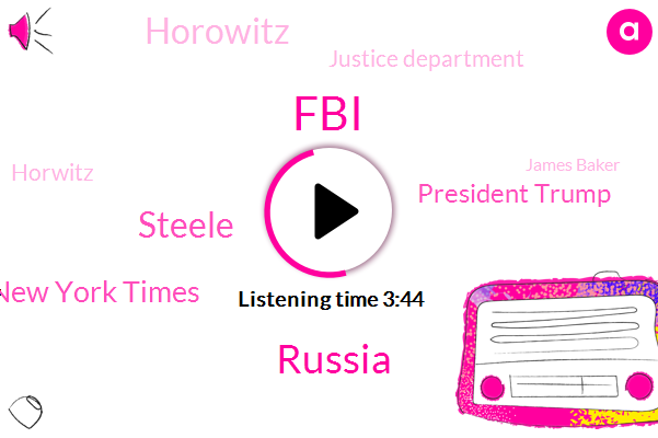 FBI,Russia,Steele,New York Times,President Trump,Justice Department,Horowitz,Horwitz,James Baker,Devin Nunes,George Popadopoulos,Department Of Health,United States,Moscow,Pfizer,Hillary Clinton,Alzheimer,Ms. There,Representative