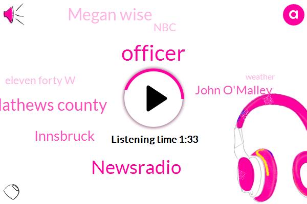 Officer,Newsradio,Mathews County,Innsbruck,John O'malley,Megan Wise,NBC,Eleven Forty W