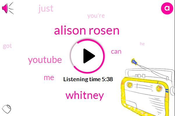 Alison Rosen,Whitney,Youtube