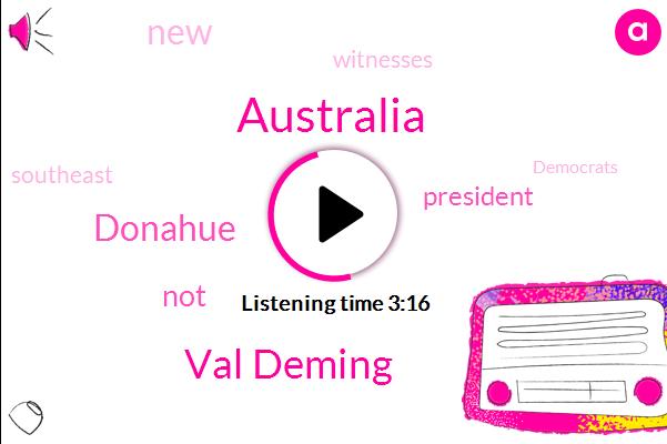 Val Deming,Australia,Donahue
