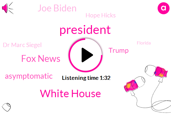 President Trump,White House,Fox News,Asymptomatic,Donald Trump,Joe Biden,Hope Hicks,Dr Marc Siegel,Florida,Mark Meadows,Analyst,Chief Of Staff