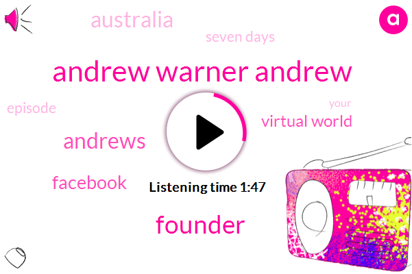 Andrew Warner Andrew,Founder,Andrews,Facebook,Virtual World,Australia,Seven Days