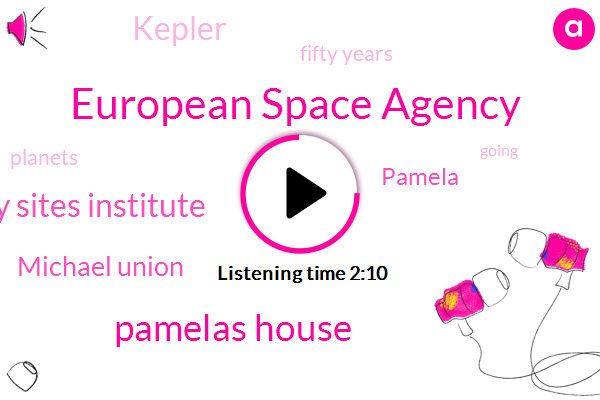 European Space Agency,Pamelas House,Planetary Sites Institute,Michael Union,Pamela,Kepler,Fifty Years
