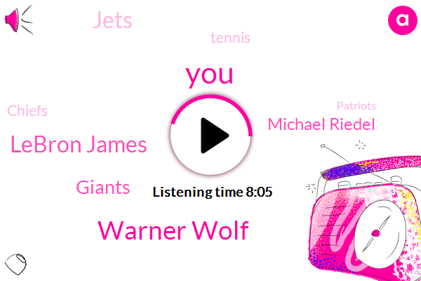 Warner Wolf,Lebron James,Michael Riedel,Giants,Jets,Tennis,Chiefs,Patriots,Grass Warner,Cowboys,King Ha Warner,Mets,LEN,Yankees,Sportscaster,New York,Quan Barkley,NFL,Seattle,Seahawks