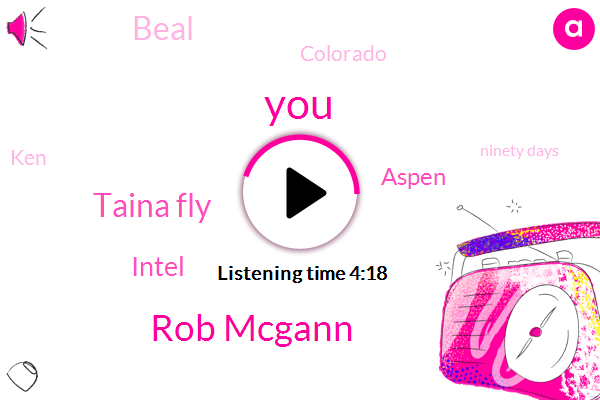 Rob Mcgann,Taina Fly,Intel,Aspen,Beal,Colorado,KEN,Ninety Days,Four Hundred Fifty Dollars,Four Months,Six Months,Two Years