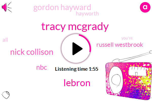 Tracy Mcgrady,Lebron,Nick Collison,NBC,Russell Westbrook,Gordon Hayward,Hayworth