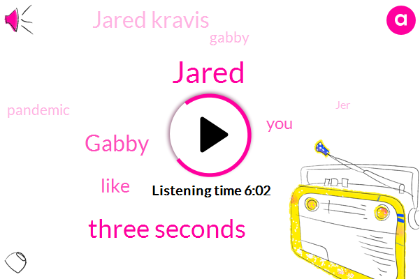 Jared,Three Seconds,Gabby,Three,Jared Kravis,TWO,Pandemic,JER,Christ,ONE