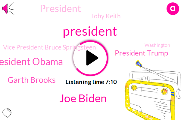 President Trump,Joe Biden,President Obama,Garth Brooks,Toby Keith,Vice President Bruce Springsteen,Washington,Tim Mcgraw,Lee Greenwood,Rick Lewis,Tyler Hubbard,Dave Logan,Longoria,Kareem Abdul Jabbar,United States,J. Lo,Bon Jovi,Foo Fighters