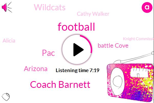 Football,Coach Barnett,PAC,Arizona,Battle Cove,Wildcats,Cathy Walker,Alicia,Knight Commission,Mark Johnson,Aspirin,Landman,EU,Colorado,Pat Fist,Lamb,Zafran Sherman